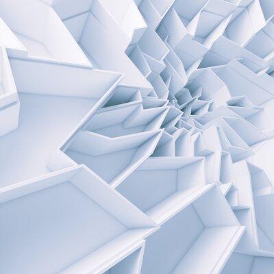 Quadro Geométrica cor sumário polígonos papel de parede