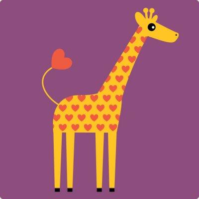 Quadro girafa vetor