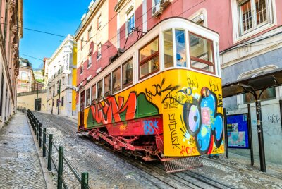 Quadro Gloria Funicular, Lisbon, Portugal