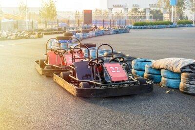 Quadro Go-kart no parque na pista de karting