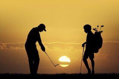 Quadro Golf tournament at sunset