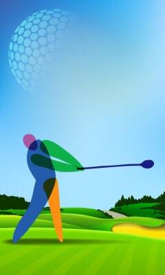 Quadro Golfe no campo de golfe