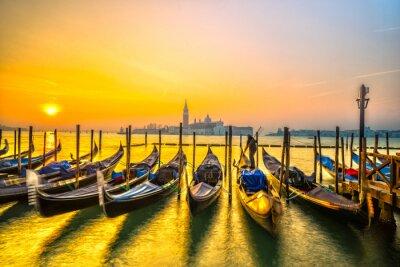 Quadro Gôndolas em Veneza, Itália