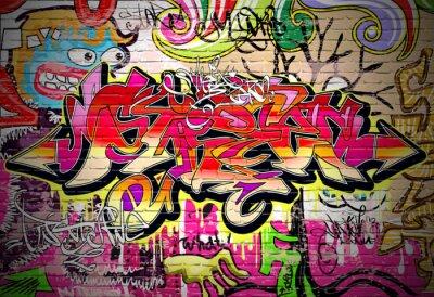 Quadro Graffiti Art Vector Background