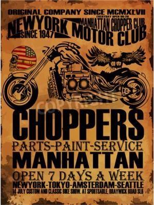 Quadro Gráfico do t-shirt da motocicleta do vintage