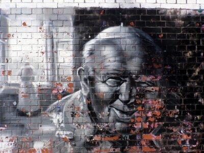 Quadro grafite religião