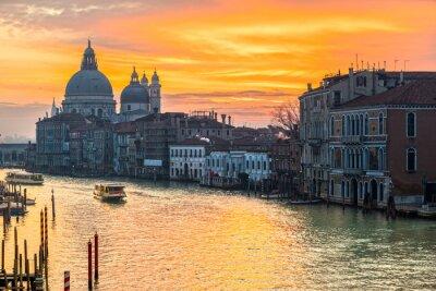 Quadro Grande Canal e Basílica Santa Maria della Salute, Veneza, Itália