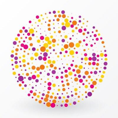 Quadro grande círculo colorido das pequenas bolinhas
