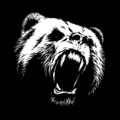 Quadro Gravar urso ilustração