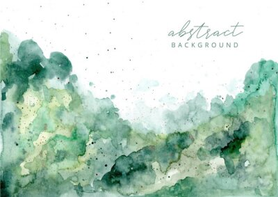 Quadro green abstract watercolor texture background