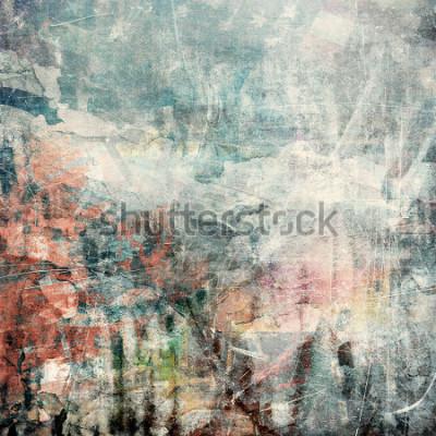 Quadro Grunge abstrato, textura riscada