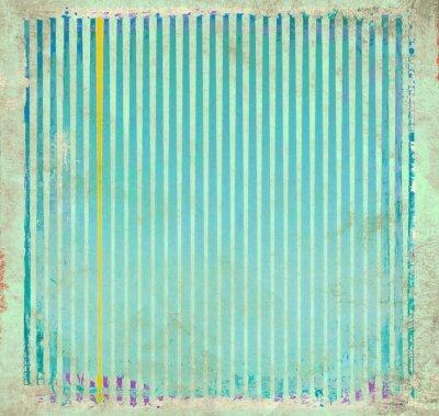 Quadro Grunge fundo listrado azul