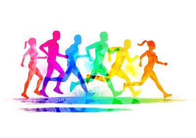 Quadro Grupo de corredores
