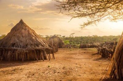 Quadro Hamer aldeia perto de Turmi, Etiópia