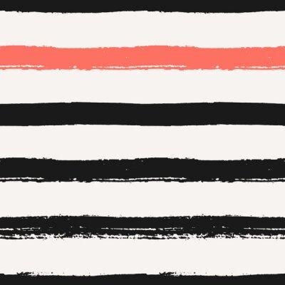 Quadro Hand Drawn Stripes padrão sem emenda