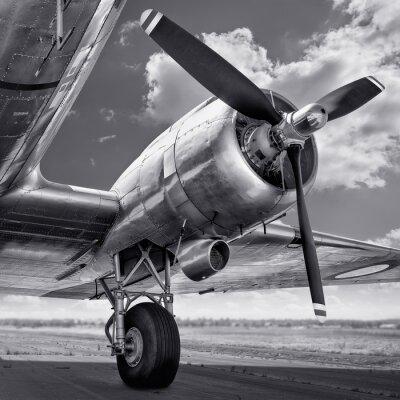 Quadro Hélice de uma aeronave