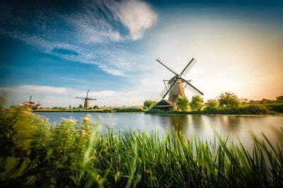 Quadro Historiadores moinhos holandeses perto de Rotterdam