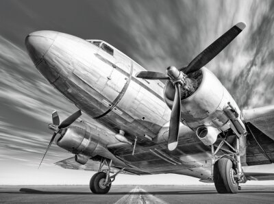 Quadro Histórico, avião, pista