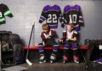 Quadro Hockey Arena Meninos na Rink Vestiário