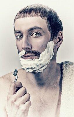 Quadro homem de barbear