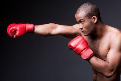 Quadro Homem de boxe.
