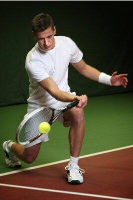 Quadro Homem novo que joga tênis