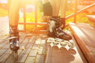Quadro Homem, rollerblading, Ao ar livre