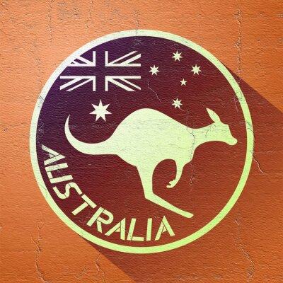 Quadro Ícone da austrália agradável