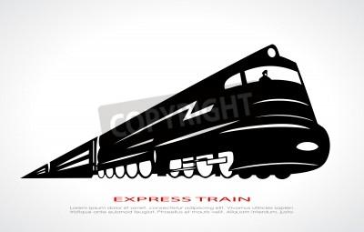 Quadro Ícone do trem