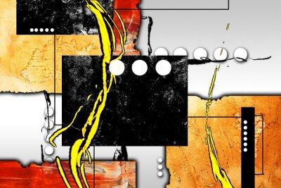 Quadro Ilustração abstrata da pintura a óleo