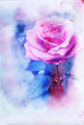 Quadro Ilustração da aguarela da flor.