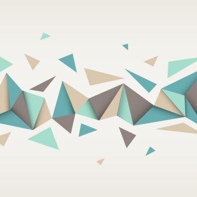 Quadro Ilustração da textura abstrata com triângulos.