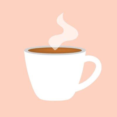 Quadro ilustração de ícone-vector de xícara de café quente