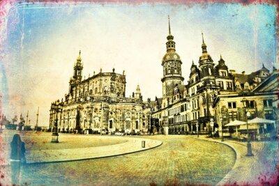 Quadro Ilustração do vintage de Dresden