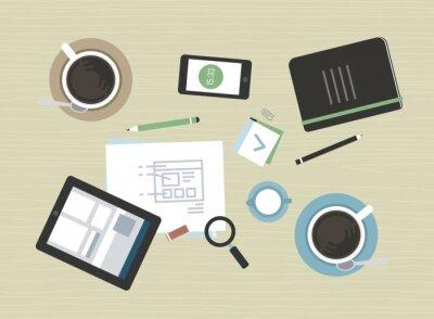 Quadro Ilustração Plano de reunião de negócios moderno