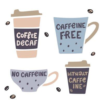 Quadro Ilustração vetorial de café descafeinado