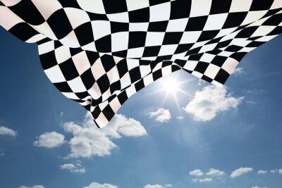 Quadro Imagem composta de bandeira quadriculada