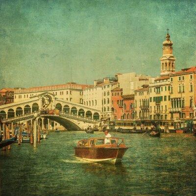 Quadro Imagem do vintage do canal grande, Veneza