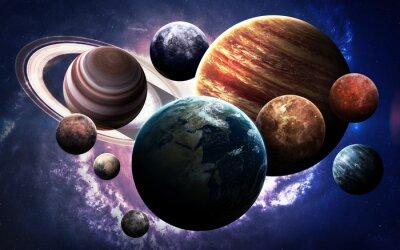 Quadro Imagens de alta resolução apresentam planetas do sistema solar. Esta imagem elementos fornecidos pela NASA