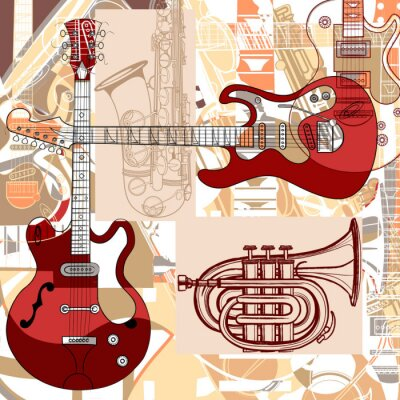 Quadro Instrumentos musicais