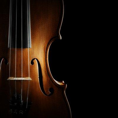 Quadro Instrumentos musicais violino da orquestra