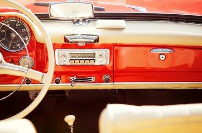 Quadro interno automóvel do vintage