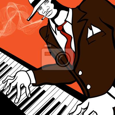 Quadro Jazz pianista