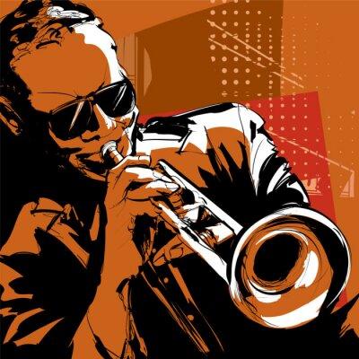 Quadro Jazz trompetista
