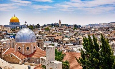 Quadro Jerusalém vista panorâmica telhado