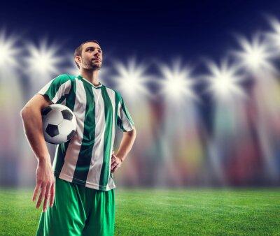 Quadro Jogador de futebol com uma bola
