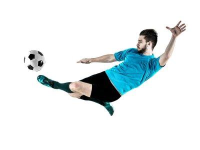 Quadro Jogador de futebol Homem Isolado