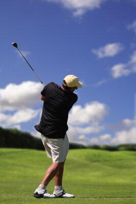 Quadro jogador de golfe