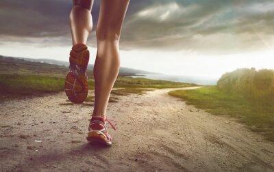 Quadro Jogger Fêmea em Coastal Path