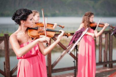 Quadro Jogos das meninas violino